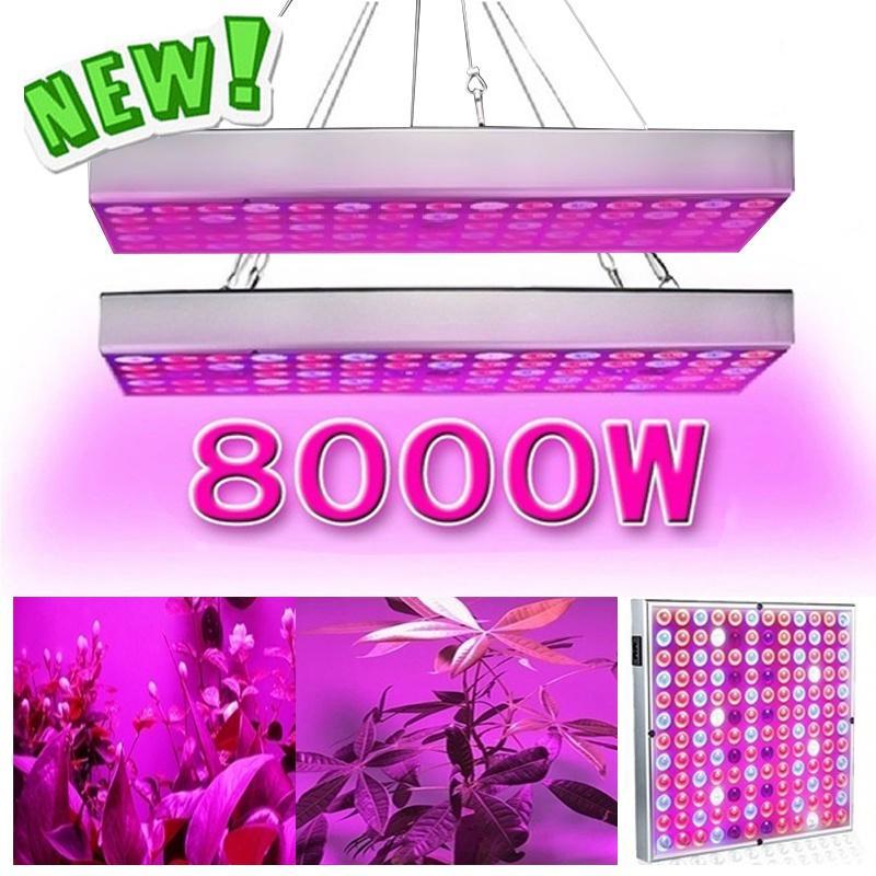 8000 Вт лампы для выращивания комнатных растений Ультратонкие энергосберегающие светодиодные лампы полного спектра для тепличного садоводства Внутренняя гидропоника – купить по низким ценам в интернет-магазине Joom