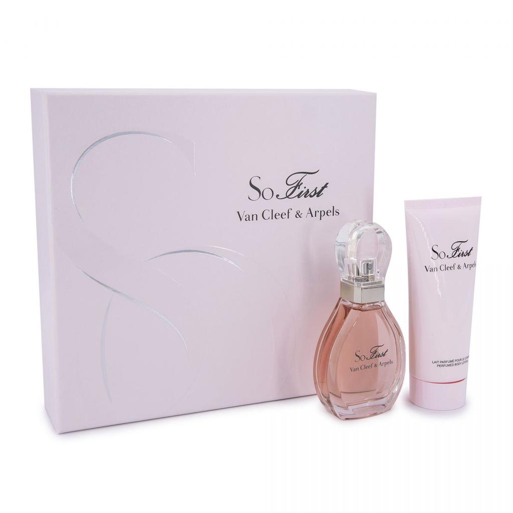2 Piece Set SO FIRST Eau De Parfum 50ML + Perfumed Milk 100ML Woman VAN CLEEF