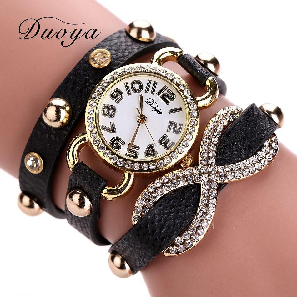 d997e847cb38 Relojes de pulsera marca duoya relojes mujeres de lujo mujeres de cristal reloj  pulsera de cuarzo reloj de diamantes de imitación de las mujeres