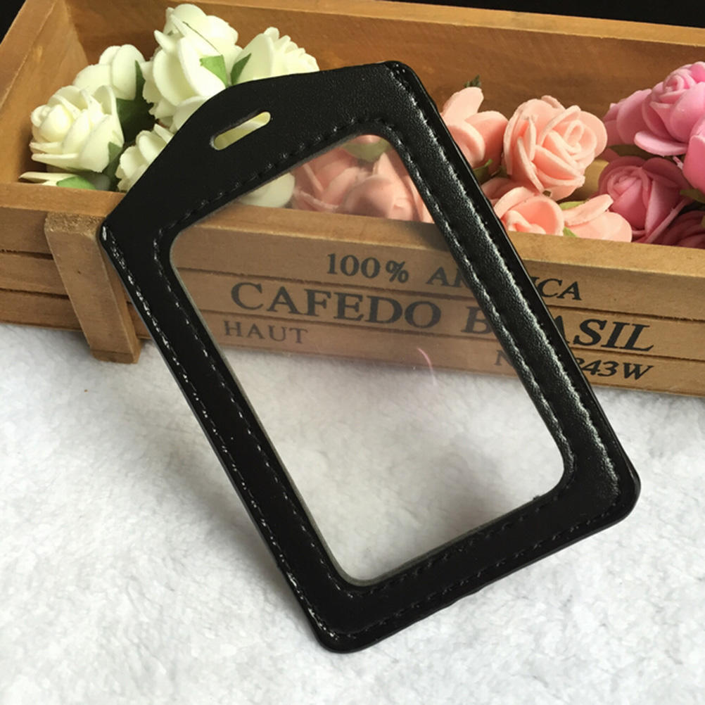 Quality Durable ID Vinyl With Clear Badge Lanyard Border Holder Hole And