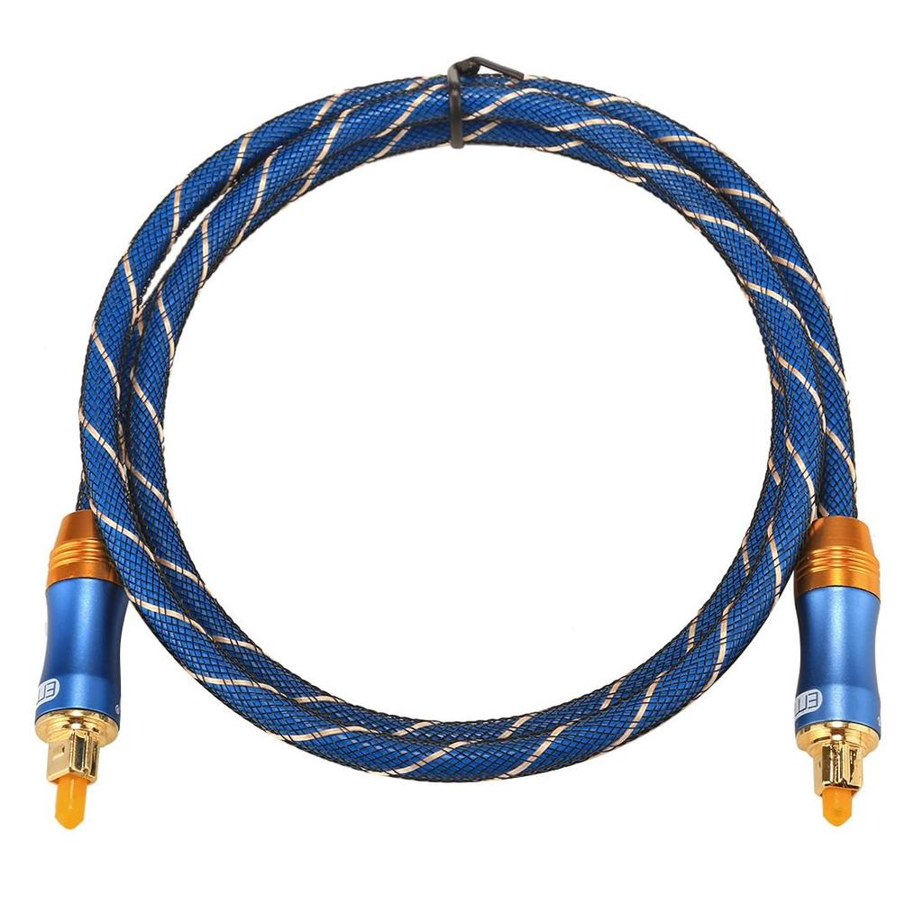 Optical Cables 3m OD6.0mm Gold Plated Metal Head Woven Line Toslink Male to Male Digital Optical Audio Cable