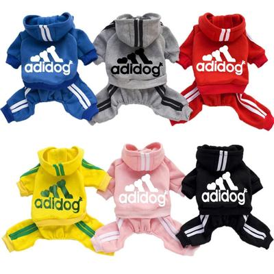 7Colors Pet Supplies Puppy Jumpsuit Pet Hoodies Winter Dog Clothes Adidog Hoodie for Teddy Dog Vest