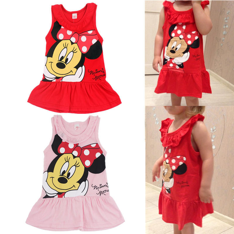 dd3b599655773 Minnie Mouse Dress Baby Girl Minnie Dress Kid Kitty Cat Party Dresses  Summer Dress Vestido Minnie Robe Fille Enfant 6M-5Y OM1785