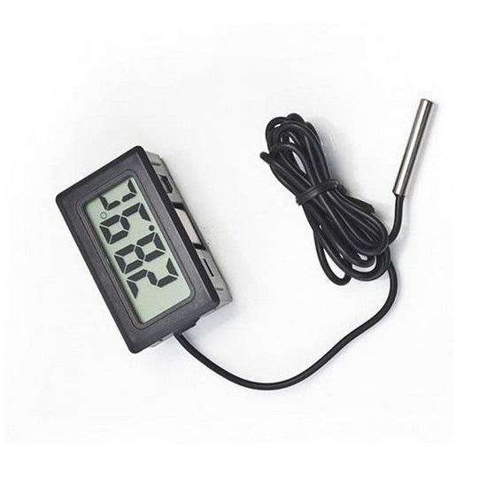 Digital LCD Thermometer Hygrometer with Probe Temperature Humidity Gauge