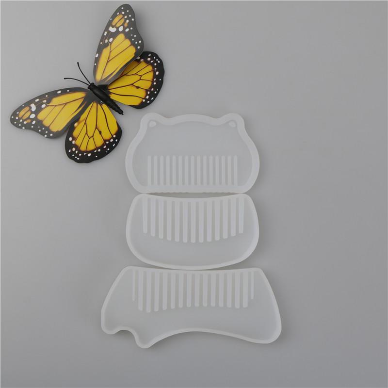 Verschiedene Formen Silikon Kamm Form Vorlage DIY breite Zahn Kamm ...