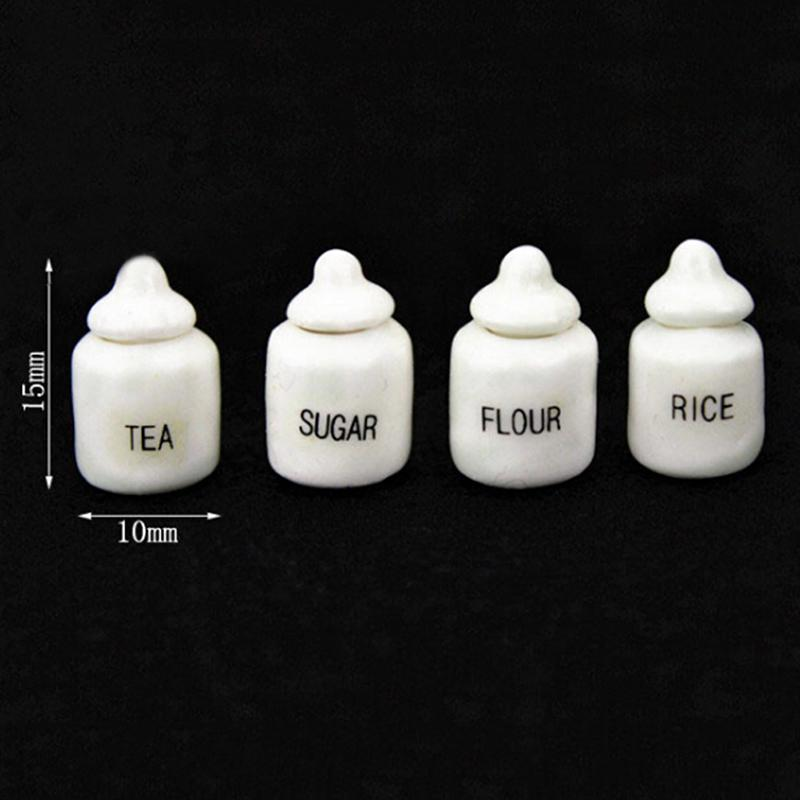 4Pcs//set 1//12 1//6 Dollhouse Miniature Food Jam Pudding Dolls House Accessori Z8