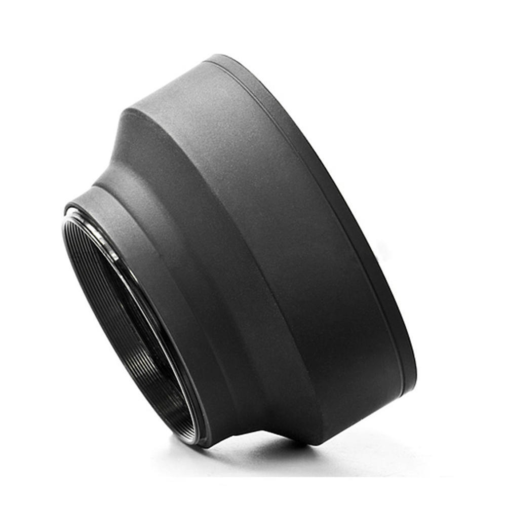 52mm 3-Stage Collapsible 3in1 Rubber Lens Hood for Canon Nikon Pentax DSLR