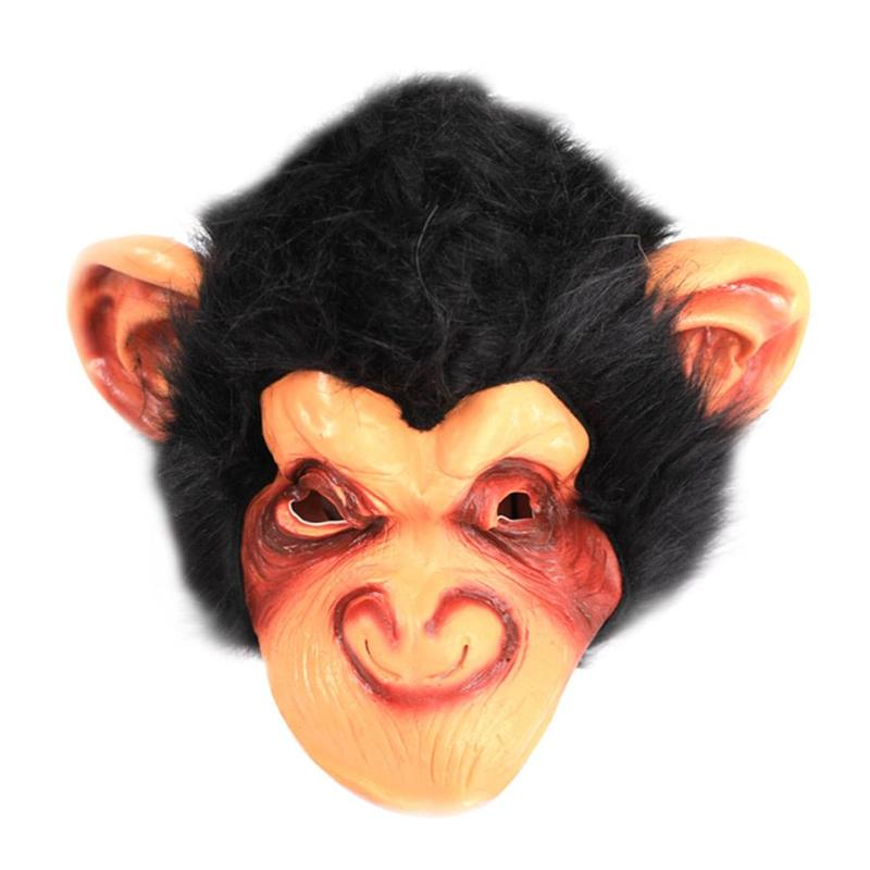 Funny Realistic Animal Monkey Latex Full Face Mask Fancy Dress Costume Halloween