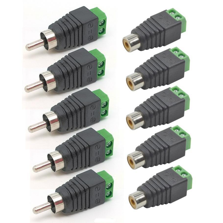5Pairs Wire Lautsprecherkabel an männliche + weibliche RCA Stecker ...