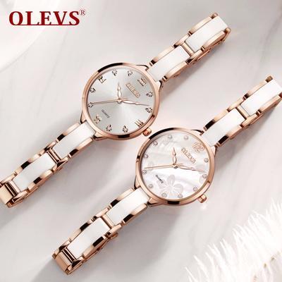 89713036d749 Relojes de marca de fábrica famosa acero moda de la mujer para mujeres  Original lujo de