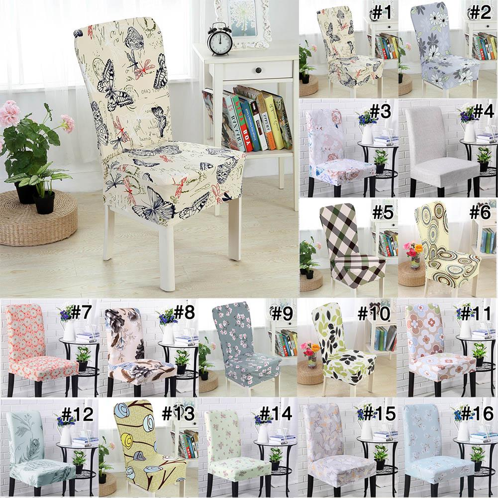 1//2//4//6pcs Stretch Dining Chair Covers Slipcovers Wedding Home Decor Seat Covers
