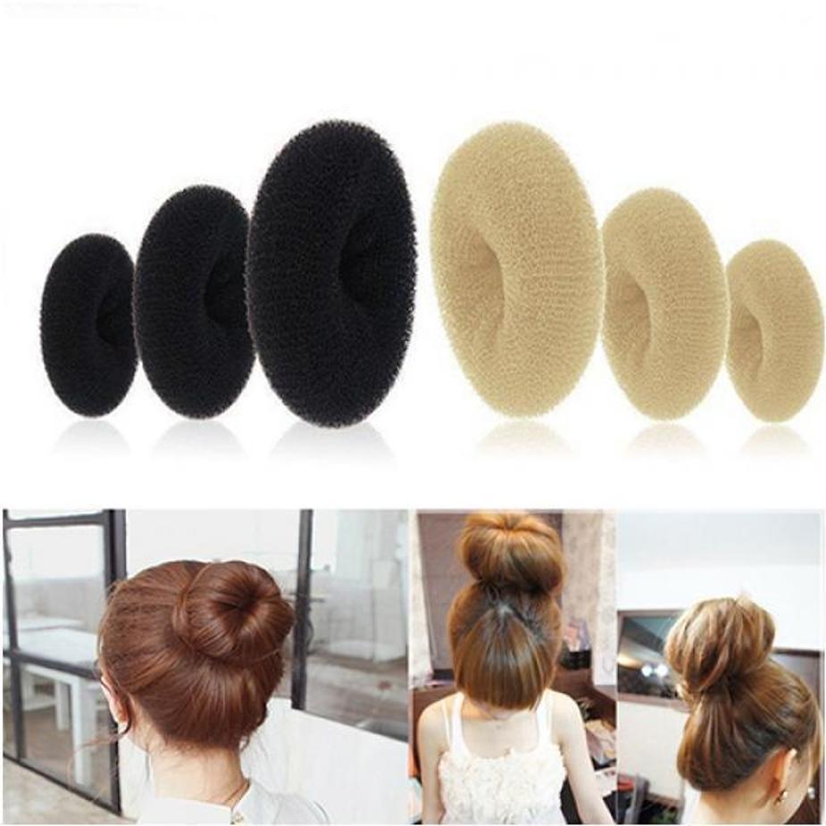 Magic Blonde Donut Hair Ring 3pcs Shaper Hair Styler Maker Tool Bun