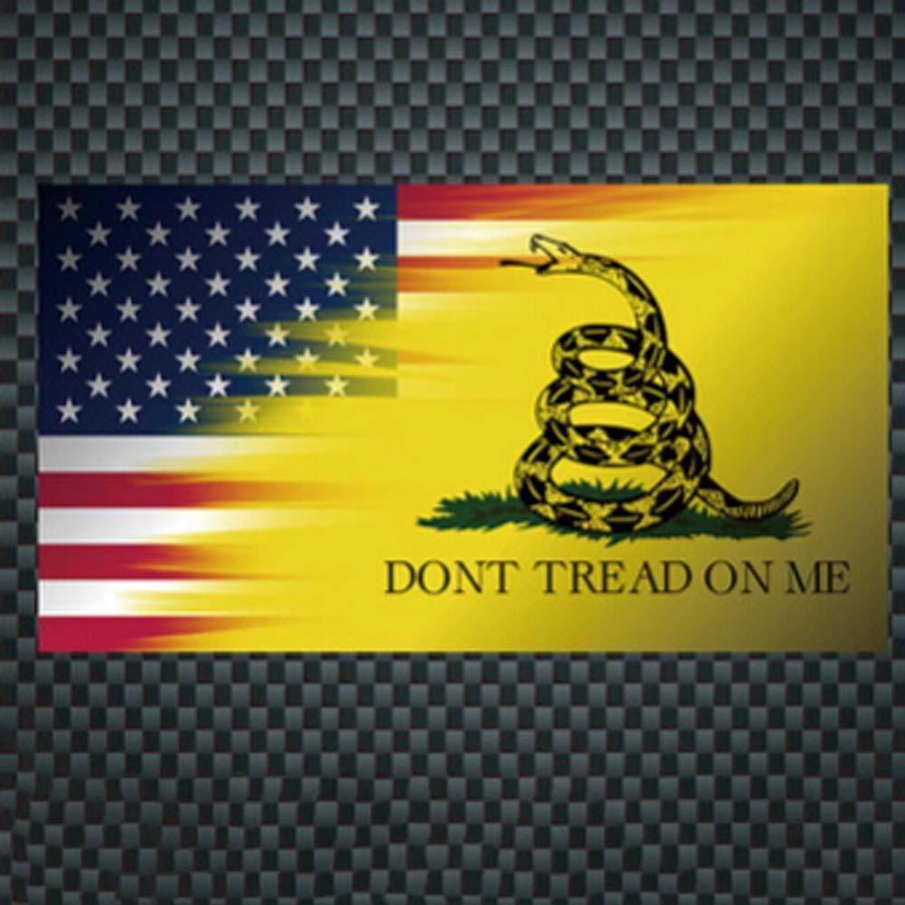 DONT TREAD ON ME The Gadsden Flag EMBLEM STICKER 3D DECAL FOR CARS TRUCKS 2
