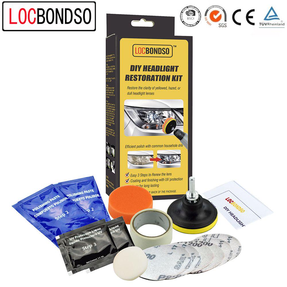 Headlight Restoration Kit Diy Anti Scratch Polishing For Car Alarm Restore Headlights With Abrasive Rubbing Compound