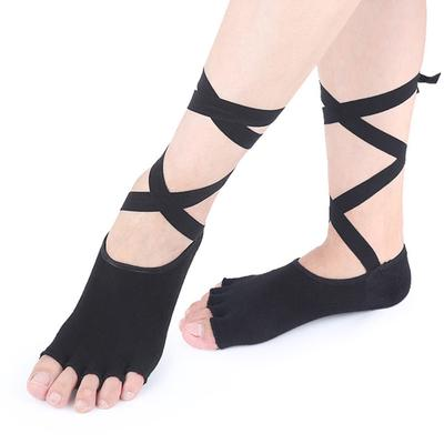 11e44436d 1 Pair Women Sport Yoga 5 Toes Socks Exercise Massage Cotton Pilates Anti-slip  Sock