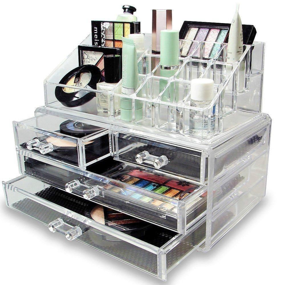 Acrilice Machiaj Organizator Bijuterii Cosmetice Display Rubrica 4