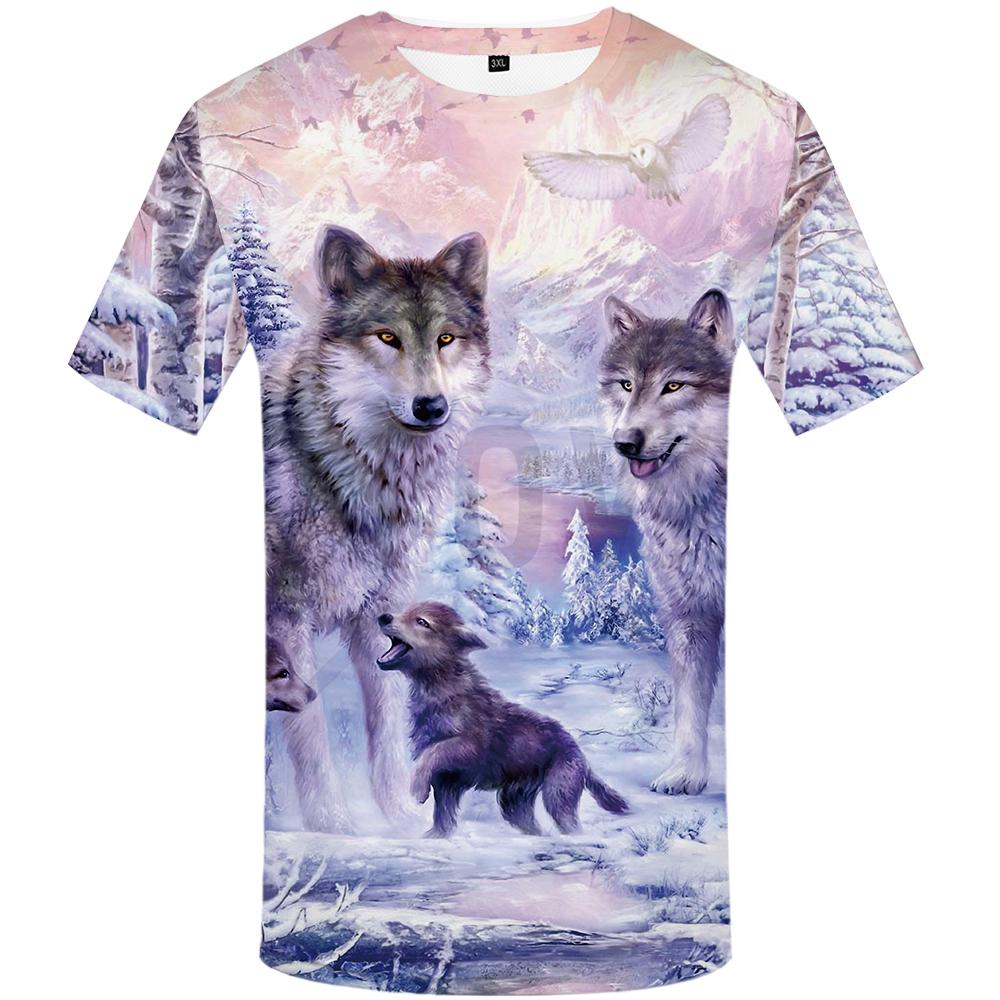 6b11e5b9d119 KYKU Wolf T-shirts Men Mountain T shirts Funny Animal Tshirt Anime Forest T- shirt 3d Love Tshirts Pr-buy at a low prices on Joom e-commerce platform