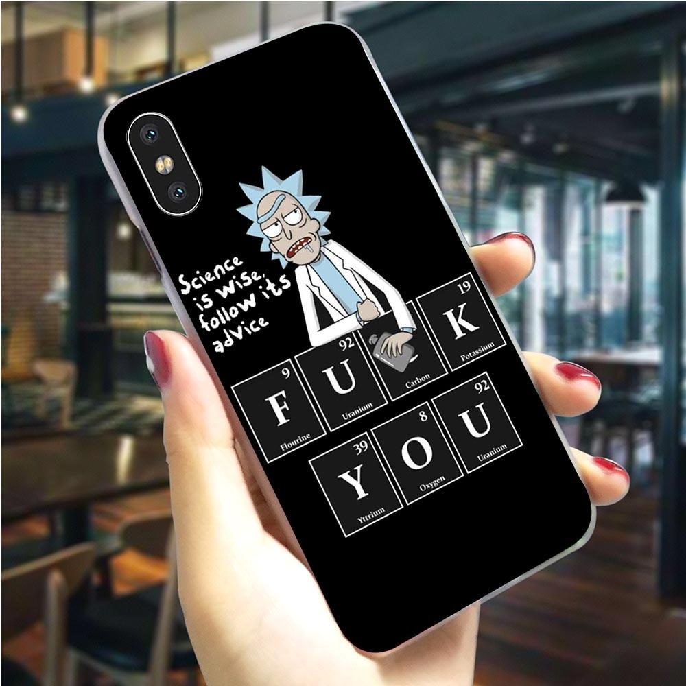 Rick And Morty High Quality Phone Cover for iPhone 5 5S SE 6 6S Plus 7 8 X Xs XR 11 Pro Max Case