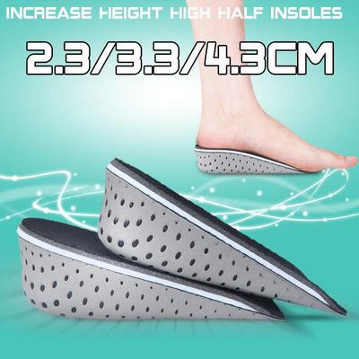 3CM Height Up Increase Lift Invisible Air Cushion Half Shoe Insole for Men Women