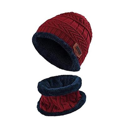 Christmas Tree,2-Pieces Winter Beanie Hat Scarf Set Warm Knit Hat Thick Knit Skull Cap Unisex,Boys Hats /& Caps