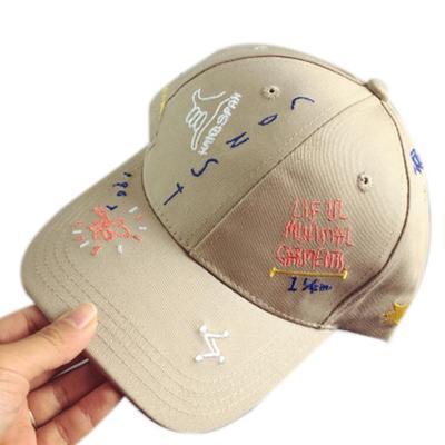 Sombrero de moda chico chica bordado letra ajustable béisbol Gorra Casual  Hip Hop a56e6a791c2