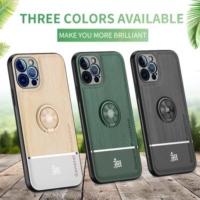 Ultra-Thin Tree Pattern Ring Holder Soft TPU Full Protection Lens Back Cover For iPhone Samsung Huawei Xiaomi