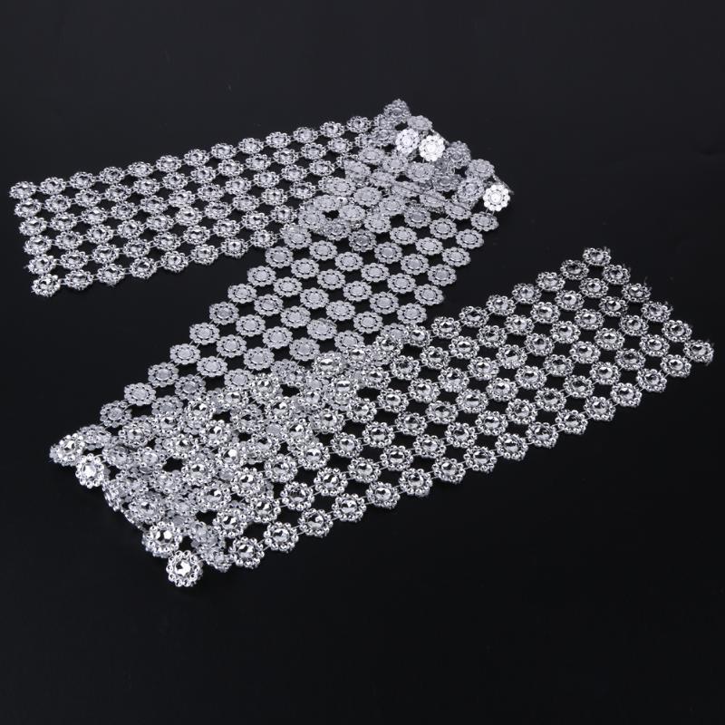 1 Rollo de Cintas Perlas Decoración Artesanía Casa Diamante Rhinestone 14mm
