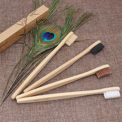 Environment-friendly Care Toothbrush Soft Bamboo Handle Whitening Rainbow  Fibre Toothbrush Bamboo