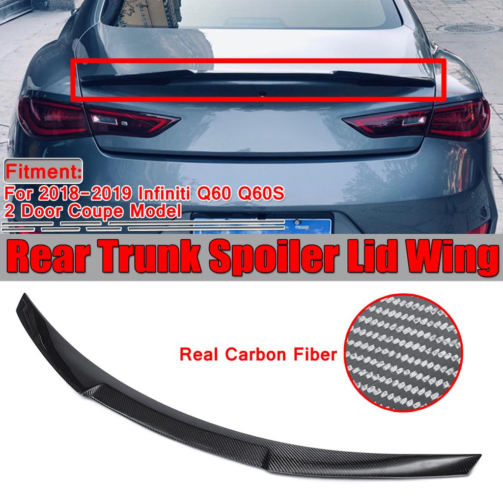 Real Carbon Fiber Rear Spoiler Trunk Boot Lip For Infiniti Q60 Q60s M4 Style 2018 2019 Buy At A Low Prices On Joom E Commerce Platform