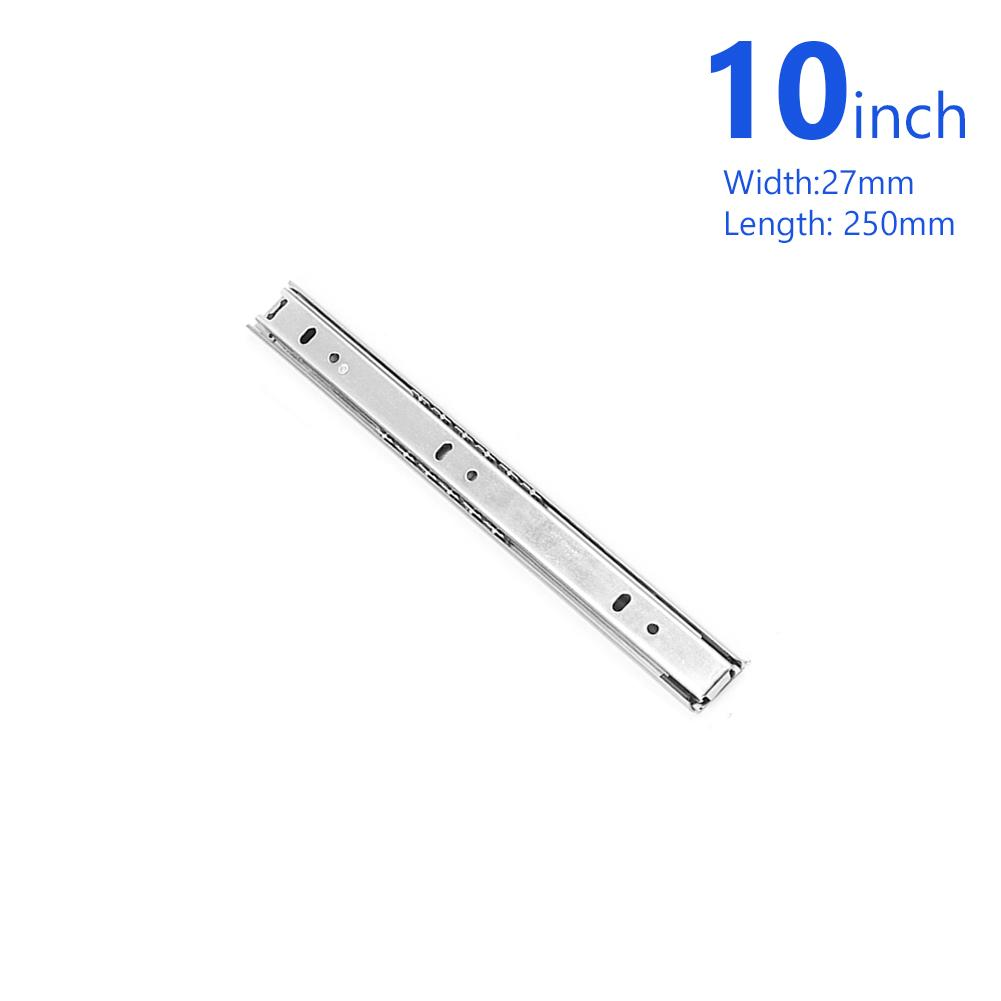 14-inch drawer sliders side mount with ball bearing 100 lb Capacity 27 mm Width 1 pair