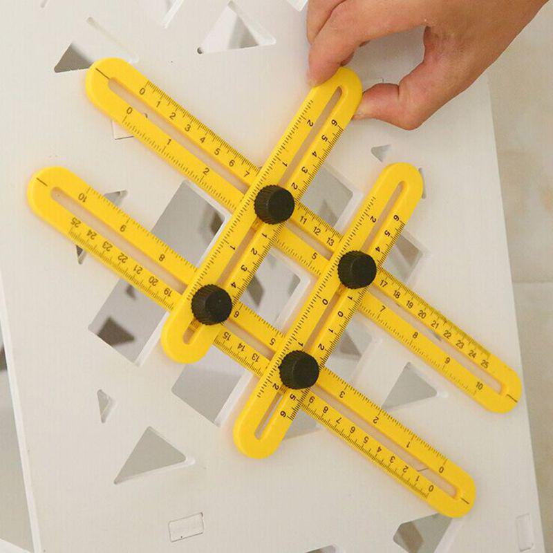 Professional Template Tool Angle Measuring Protractor Multi-angle Ruler Builders