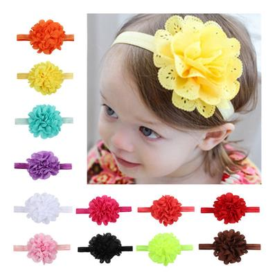eb89a742ca4 Lovely Baby Accessories Kids Girl Infant Lace Flower Headband Hair Band  Headwear