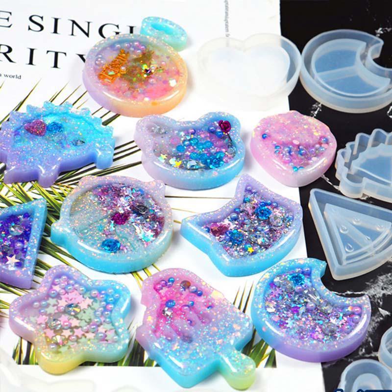 Bear Ice Pop Shaker Silicone Mold Resin Crafting Casting Kawaii Food Cute