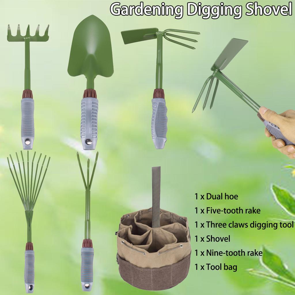 Hand Garden Tools Plants Shovel Hand Rake Digging Fork Garden Claw Pick Rake