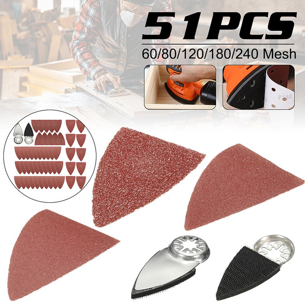 100Pcs Oscillating Tool Finger Sanding Paper Sanding Pad 10 80 120 180 240 Grit