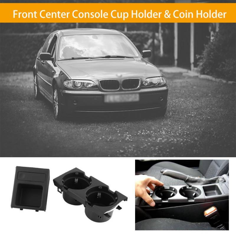 BMW 3 SERIES E46 NEW GENUINE CUP//CAN//DRINKS HOLDER WITH COIN STORAGE SET PAIR