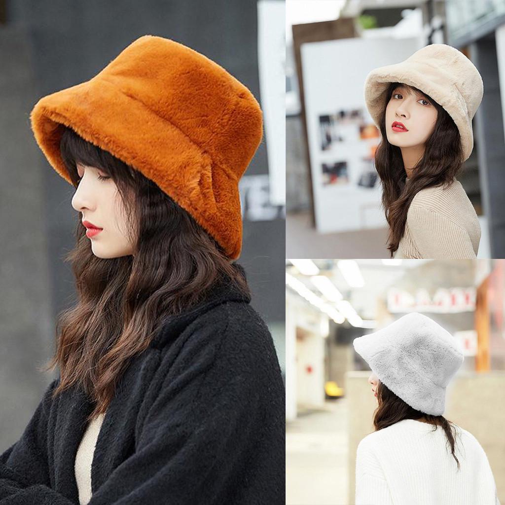Дамы Зимнее ведро Шляпа Мило и теплые шапки – купить по низким ценам в интернет-магазине Joom