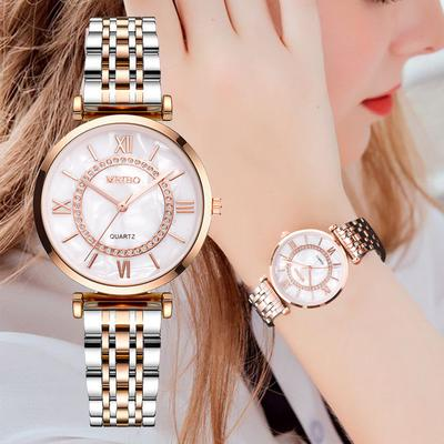 Quartz Watch Fashion Temperament Simple Watch Classic Dial Alloy Steel Band Ladies Watch
