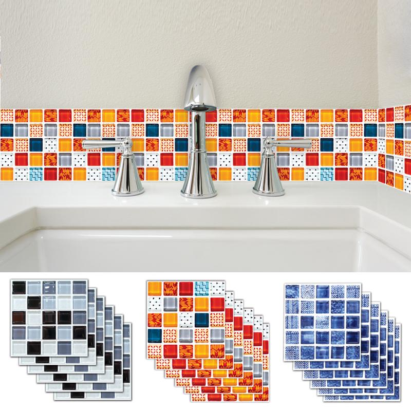 10PCS Flowers Shower Bathtub Sticker Non-Slip Bedroom Stickers Adhesive Decor