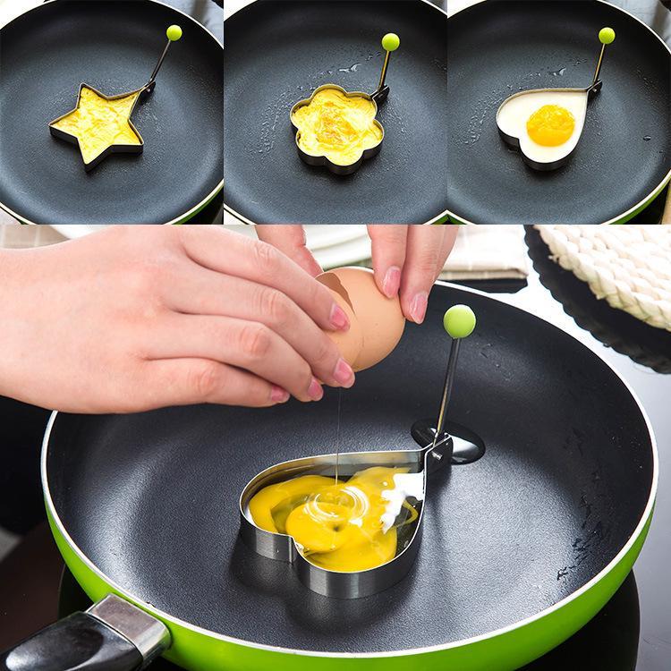 加厚不锈钢煎蛋器模型 荷包蛋磨具爱心型煎鸡蛋模具 创意煎蛋圈