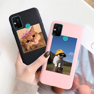Soft Silicone Phone Case For Huawei Honor 10X 10 Lite 10i 8A 9A 9X 7A 20 Cute Cartoon Cat Cover For Huawei P Smart Y6 2019 Y6p Mate 20 Lite Nova 3i 5T