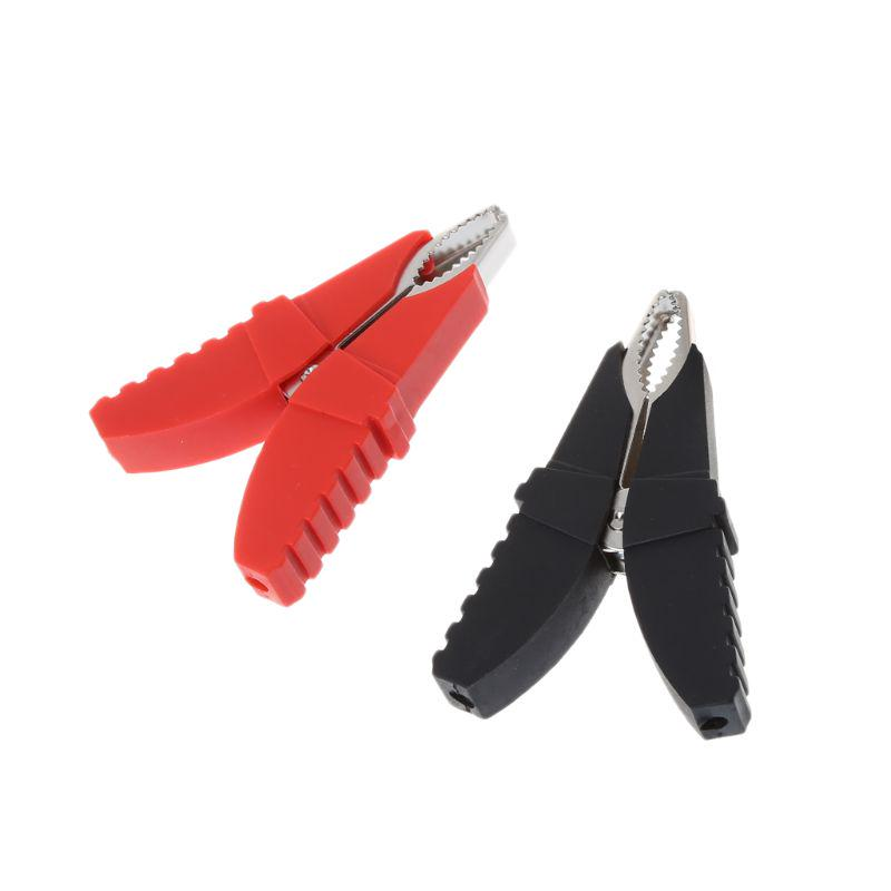 Testing Clamp Car Vehicle Battery Test Alligator Red+Black Crocodile Clips