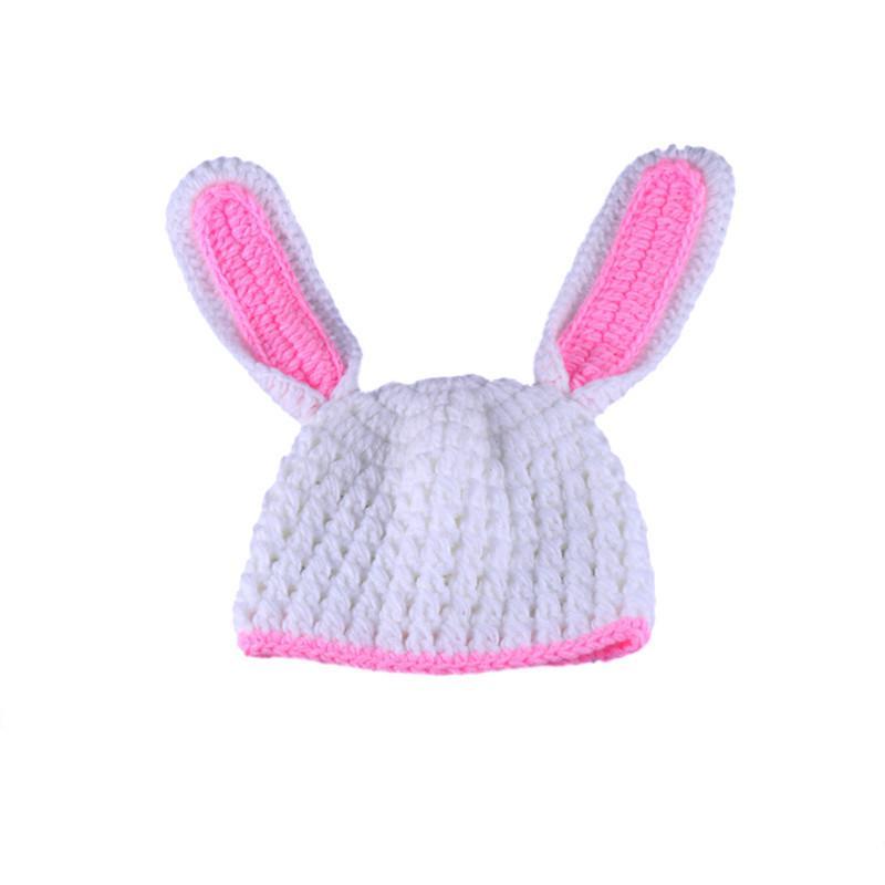 Los niños sombrero tapa recién nacido fotografía ganchillo bunny ...
