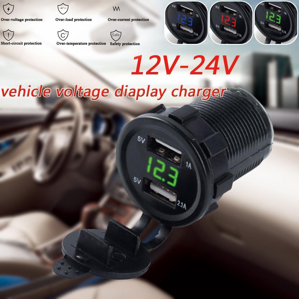 Dual USB зарядное гнездо прикуривателя Socket Dual отверстие 1-для-2 автотелефон Кабели Адаптеры розетки фото