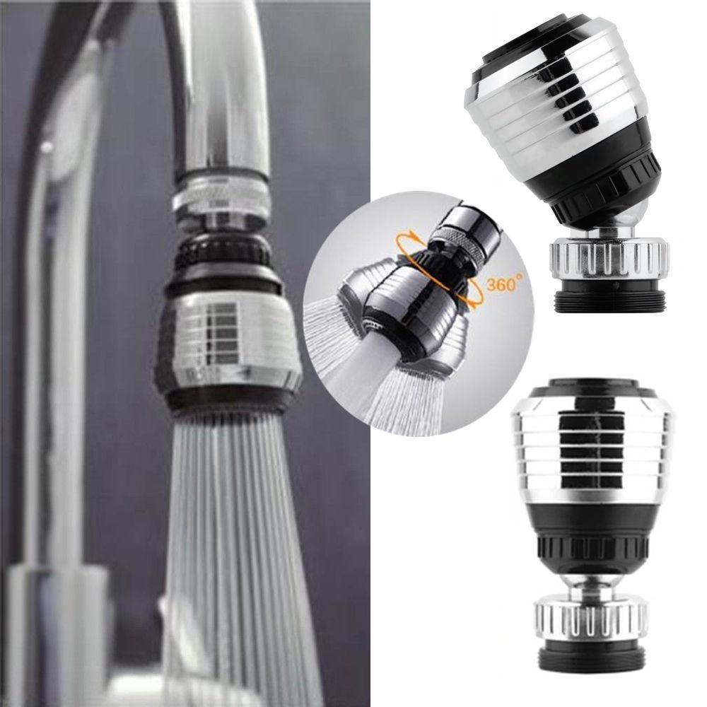 360 Bec pivotant becs de bec Adaptateur de filtre de buse Robinet /économiseur deau A/érateur Diffuseur Accessoires de cuisine noir
