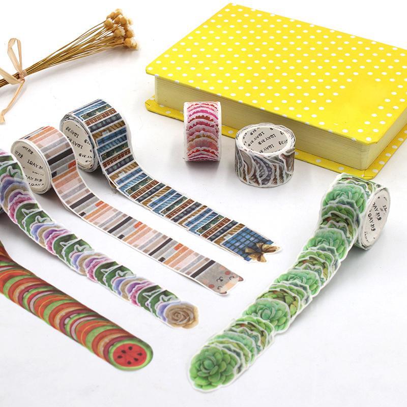 200Pcs//Roll Scrapbook Paper Petals Washi Tape DIY Stickers Stationery Masking US