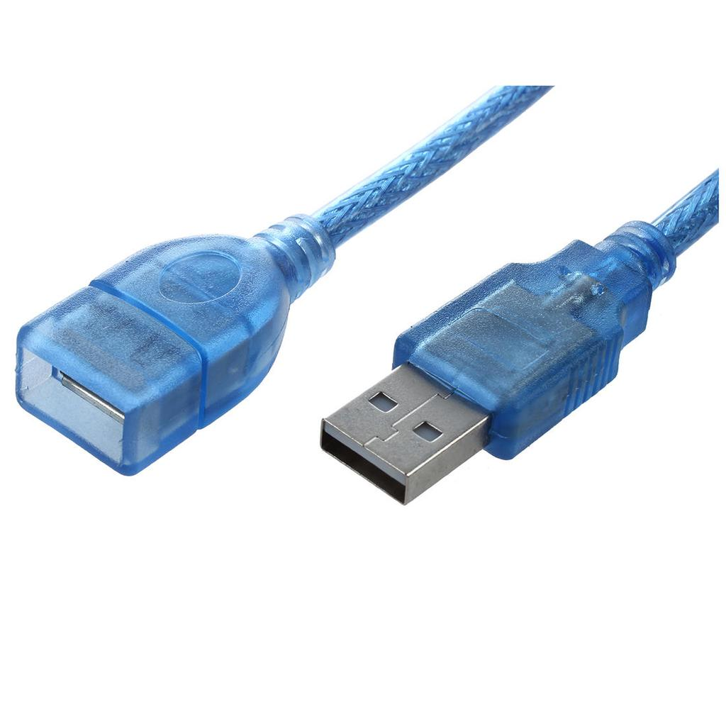 Blue plastic housing USB 2.0 male to female AF/AM Cable extension 50 ...
