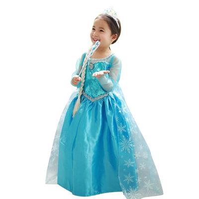 Mädchen Schnee-Königin Prinzessin Kleid Anna Cosplay Kleider Baby ...