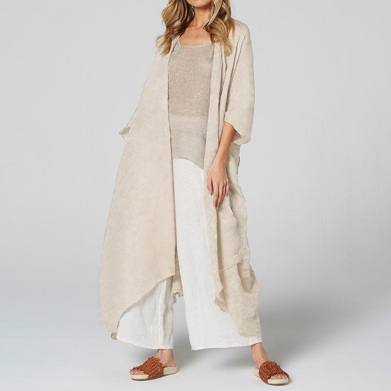 UK Womens Chiffon Lace Kimono Cover Up Beach Long Maxi Oversized Sunscreen Coats