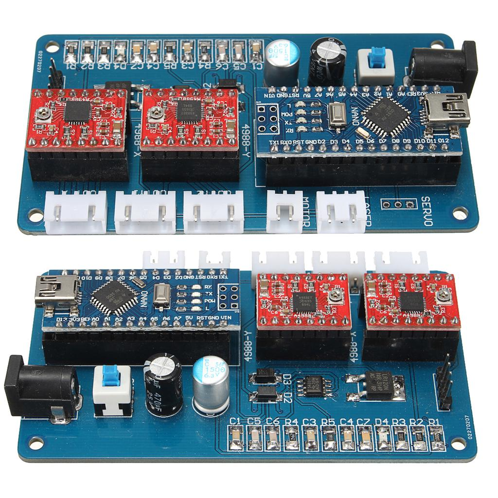 Electronic modules 2-axis grbl controller panel board DIY laser engraving  cutting machine benbox
